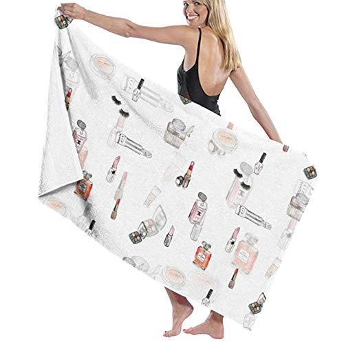 Toallitas de baño de cosméticos de perfume de secado rápido suave toalla de ducha de playa 130 x 80 cm