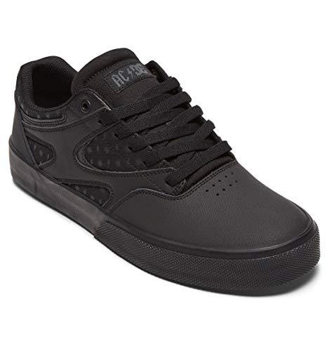 DC Shoes x AC/DC Kalis Vulc Black Mens Leather Skate Trainers