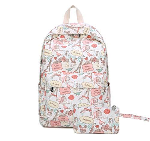 fczka Frische süße Dame Frau Laptop Rucksäcke Sommermode Drucken lässigen Reiserucksack Schultasche für Mädchen