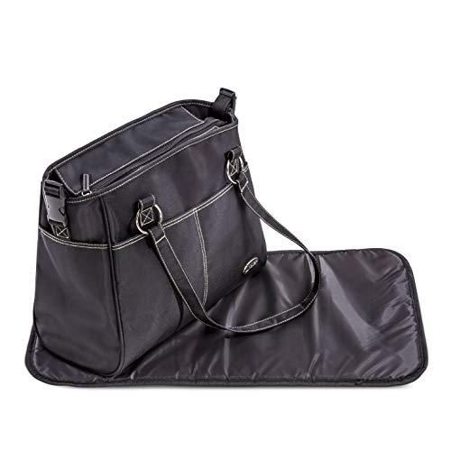 Hauck City Bag Sac à Langer pour Maman et Bébé Grande Capacité avec Plusieurs Poches pour les Affaire de Bebe, Matelas à Langer Inclus - noir