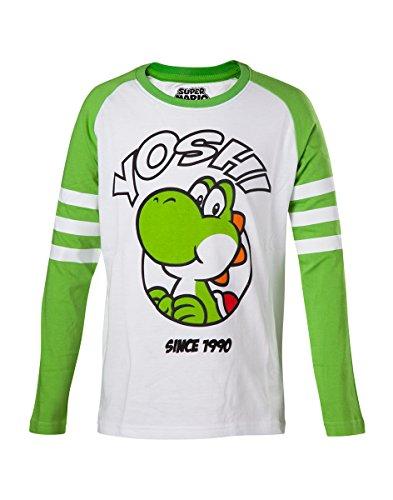 Super Mario Yoshi Manches longues pour Enfant vert/blanc 110/116