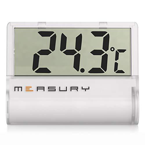 Measury Aquarium Thermometer Digital zum Kleben, Aquarien Thermometer für Süßwasser und Meerwasser TM11