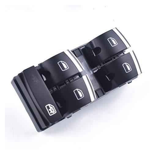 SHENG Interruptor de ventana cromado para Audi A3 8P A4 S4 RS4 B6 B7 A6 S6 RS6 C6 Q7 4F0959851H