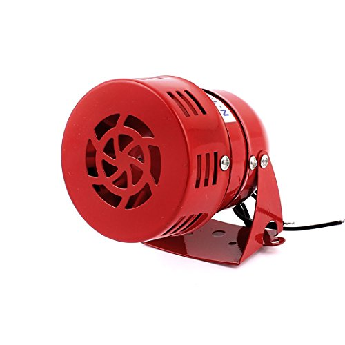 sourcing map 220V 114dB Warnung Horn Micro Motor Siren Alarm Rot MS-190
