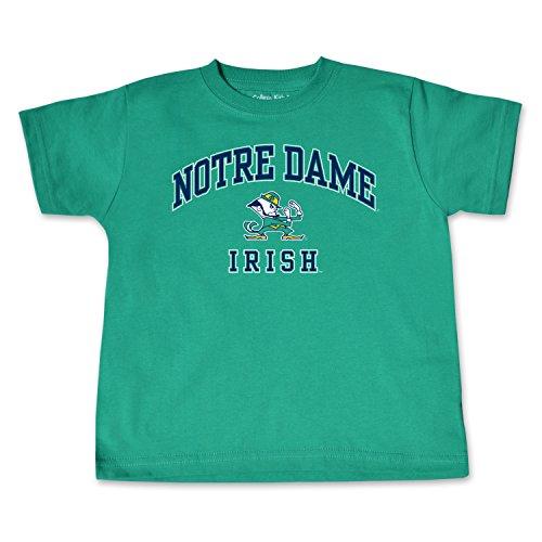 NCAA Notre Dame Fighting Irish Toddler Short Sleeve Tee, 4 Toddler, Kelly