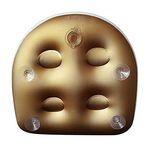 Chaise de spa gonflable - Trois couleurs - Avec ventouse - Pour enfants et adultes - Pour spa et récupération - Jaune - Taille unique