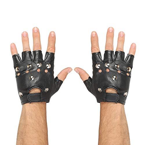 Widmann 46903 Fingerlose Nietenhandschuhe, Unisex– Erwachsene, mehrfarbig