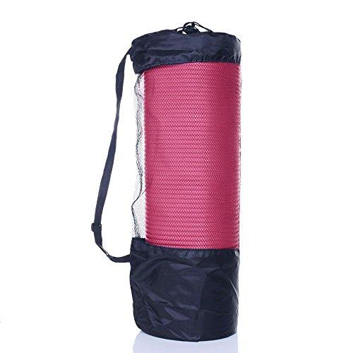 Borsa per tappetino da yoga tappetino yoga 182,9x 61x 1cm, duraturo, 10mm di spessore antiscivolo Pad per esercizio Fitness