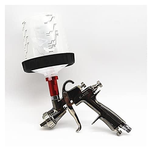 Pistola Pintura LVLP Herramienta de Pintura de Acabado de Cochecito de Pistola de pulverización 600cc Taza de Aire Pistola de pulverización con Taza de Mezcla pps sin Tanque de Limpieza