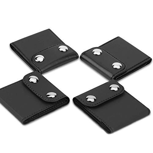 Seatbelt Adjuster Car Seat Belt Covers with PU Leather Shoulder and NeckSeatbelt Adjuster Car Seat Belt Covers with PU Leathe Protector Strap Positioner Locking Clip for Adults and Kids,4 Pack (Black)