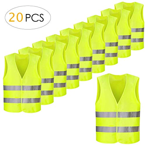FEMOR 20PCS Gilet de Securité Ré...