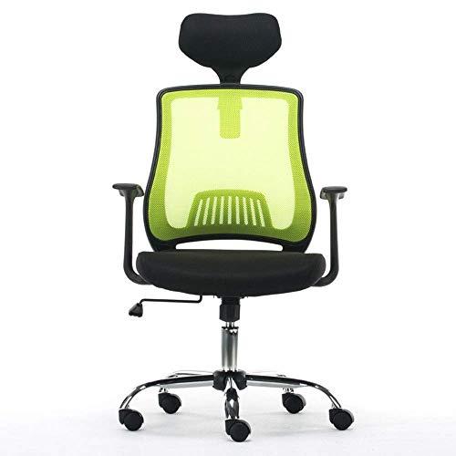 PLLP Sillas de escritorio, silla ergonómica de oficina Silla giratoria ejecutiva para computadora Silla de apoyo lumbar Apoyabrazos Respaldo alto Malla transpirable Altura ajustable del asiento de la