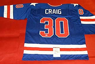 Jim Craig Autographed Signed Miracle On Ice 1980 USA Hockey B Jersey Olympics JSA