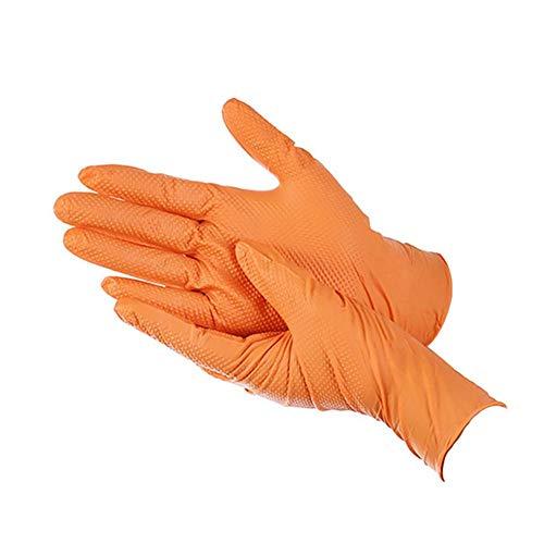 100 guanti usa e getta in gomma arancione guanti multiuso resistenti adatti per l'uso in cucina, lavastoviglie, giardinaggio e molto altro ancora, beige