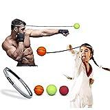 Boxing Reflex Ball Original - Training, Reaction, Boxing Ball on String, Fight Ball, Punching Ball to Improve Hand & Eye Coordination, Workout and Fitness