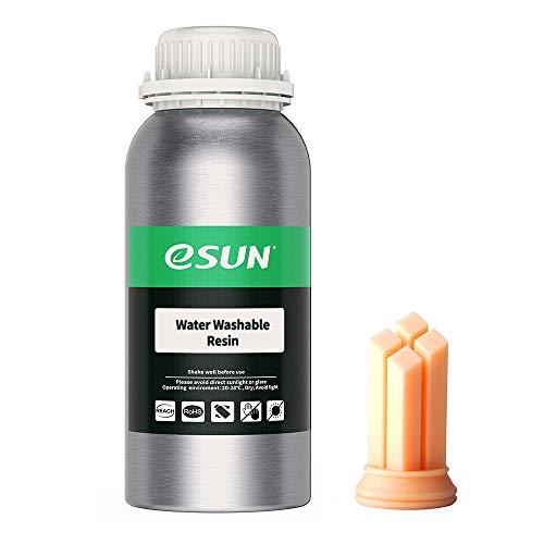eSUN LCD UV 405nm Resina Lavabile con Acqua per Stampante 3D Resina Fotopolimerizzante UV Resina Fotopolimerica Rapida per Stampa 3D LCD, 500g Beige