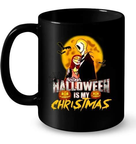 N\A La Pesadilla Antes de Navidad Halloween es mi Navidad - Taza de café de 11 oz
