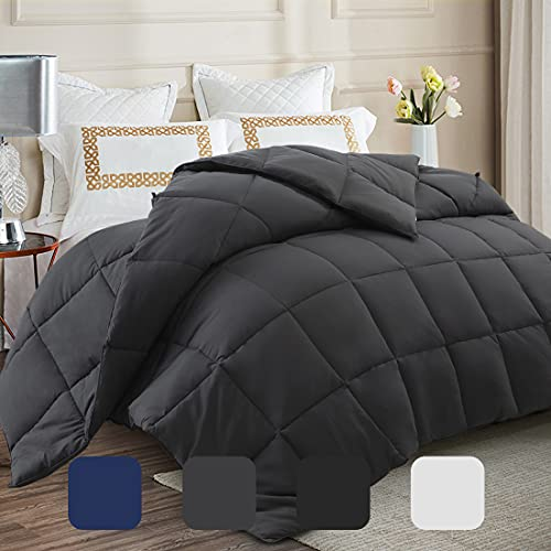 """Soft Cooling Queen Size Comforter All Seasons 2100 Series Quilted Down Alternative 350 GSM Lightweight Breathable Hotel Comforters Duvet 6 Corner Tabs Plush 3D Filling Machine Washable (88""""x88"""")"""