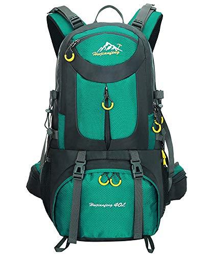 Nylon Sac à Dos de randonnée - 40L / 50L / 60L Homme Femme Sport Trekking Voyage Camping, Lac Bleu, 40L