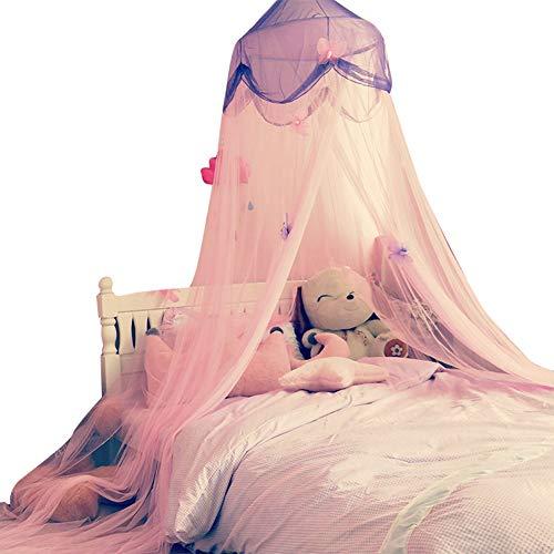 YXZN Mädchen Prinzessin Schloss Kind Tipi Spielzeug Zelte Spiel Zelt Prinzessin Spielhaus Indoor Kinderhäuser Kuppel Bett Vorhang Spielhaus