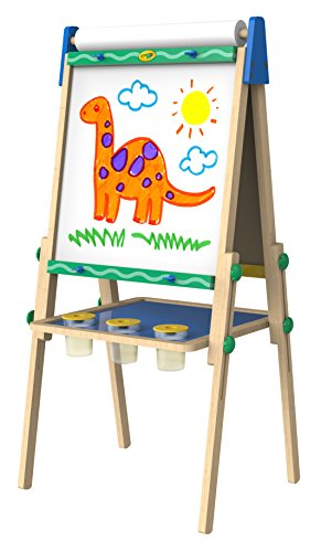 Crayola Kids Wooden Easel, Dry Erase Board & Chalkboard, Amazon Exclusive, Kids Toys, Gift, Age 4, 5, 6, 7, Cream