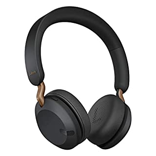 Jabra Elite 45h Wireless On-Ear Headphones - Compact, Foldable Earphones with 50-Hours Battery Life - 2-Microphone Call Technology - Copper Black, Adjustable (B089Q6HK8G) | Amazon price tracker / tracking, Amazon price history charts, Amazon price watches, Amazon price drop alerts