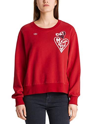 Marc Cain Sports Damen MS 44.01 J05 Sweatshirt, Mehrfarbig (Chili 281), 42 (Herstellergröße: 5)