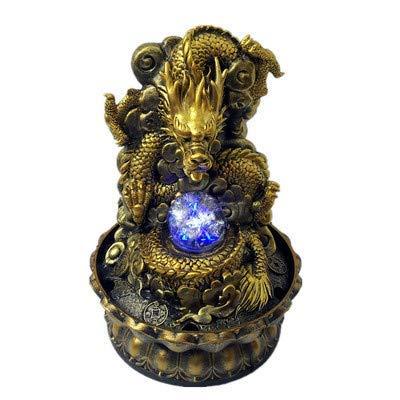 Knoijijuo Wasser Ornamente, Glücklichen Asiatischen Drachen Desktop-Büro, Chinesischen Desktop Brunnen Harz Handwerk Geschenk