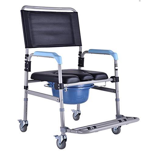 WENBING WC WC Car Mover, Vasca Anziani Mobility Scooter, Pieghevole Doccia Chair Sedia a rotelle per disabili