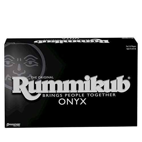 Rummikub Onyx Edition - Sophisticated Set with Unique Black Rummikub Tiles and Vibrantly-Colored Engraved Numbers by Pressman