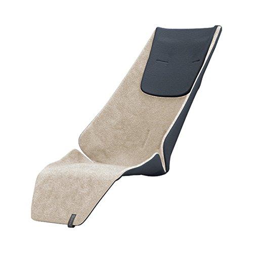 Quinny Kinderwagen Sitzauflage, hochwertiges und kuschelig weiches Winter-Sitzpolster, nutzbar für Quinny Kinderwagen Zapp Flex, Zapp Flex Plus und Zapp Xpress, beige