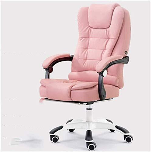 Rollsnownow Computer Stuhl Ergonomischer Bürostuhl Günstige Schreibtisch Stuhl mit Lordosenstütze Flip Up Arme Kopfstütze PU-Leder-Vorstand High Back Computer Stuhl for Erwachsene Frauen Männer sessel