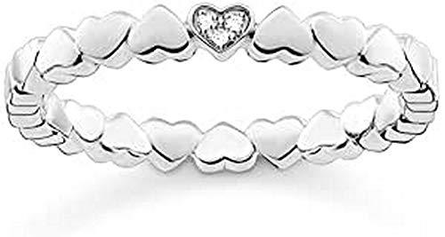 THOMAS SABO Anillo de declaración Plata ley 925 diamante Forma diferente - D_TR0013-725-14-58