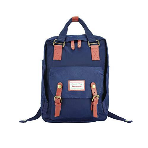 BestiTas Moderner, einfacher und Unisex Outdoor Rucksack Mode Schulrucksack für Backpack (Dunkelblau)