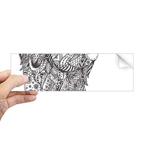 DIYthinker Sticker rectangulaire pour fenêtre Motif singe Baby Friend Company