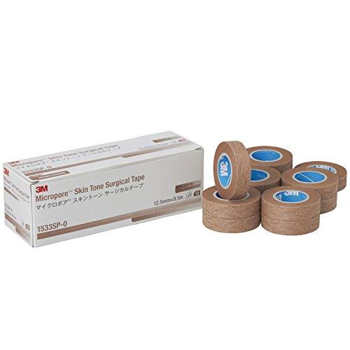 3M サージカルテープ 肌色 12.5mm幅x9.1m 12巻 マイクロポア 1533SP-0