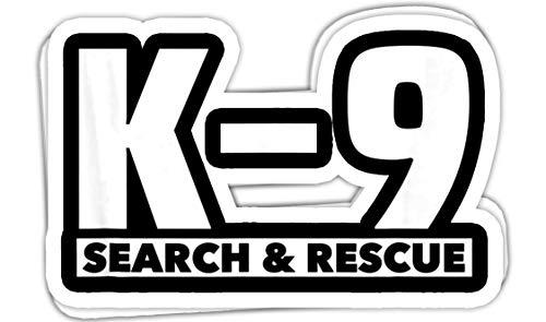 chillylkst K9 Thin Orange Line Search & Rescue SAR K-9 Team - 4x3 Vinyl Stickers, Laptop Decal, Water Bottle Sticker (Set of 3)