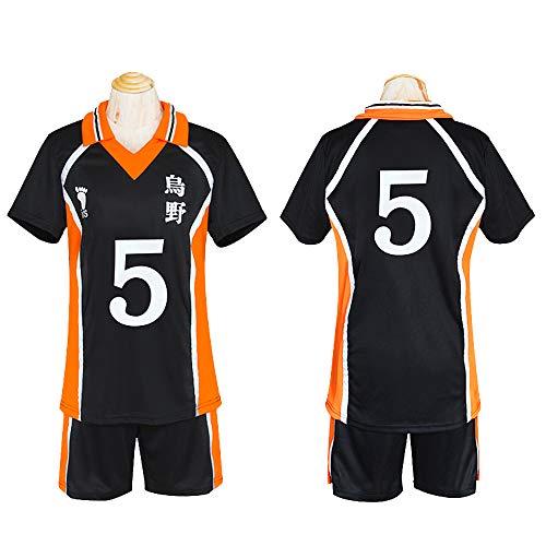 Cosplay Kleidung Haikyu !! Anime Kostüm Hadano Schule Volleyball-Abteilung Team Uniform Hinata Shoyo Cosplay Volleyball Uniform Jersey #5-XXL