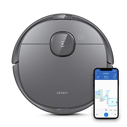 ECOVACS DEEBOT OZMO T8 Robot Vacuum Cleaner & Mop with Smart Object Detection & Avoidance, Advanced Laser Mapping, Custom Clean Programming, High Efficiency Filter Ideal for Pet Hair, 3 Hrs of Runtime Dining Features Kitchen Robotic Vacuums