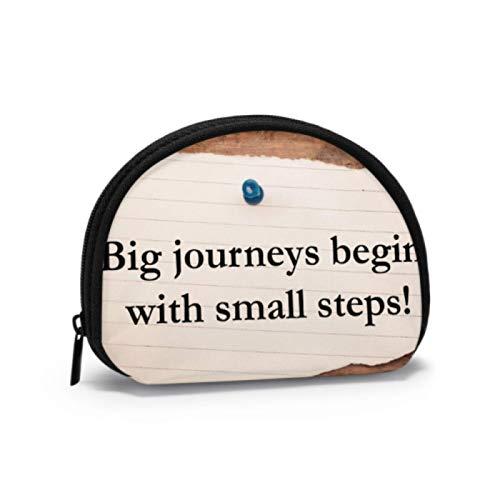 Estuche para Monedas para Mujer Los Viajes Grandes comienzan con un pequeño...