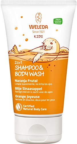 Weleda Kids 2 In 1 Shampoo & Body Wash Blije Sinaasappel, 150 ml