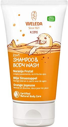 Weleda Happy Orange Kids Shampooing et gel douche 2 en 1 150 ml