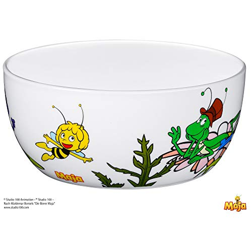 WMF Biene Maja Kindergeschirr Kinder-Müslischale, Ø 13,8 cm, Porzellan, spülmaschinengeeignet, farb- und lebensmittelecht