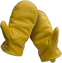 American Made Cowhide Leather Pile Lined Chopper Mitt Gloves , 9200PL, Size: Large