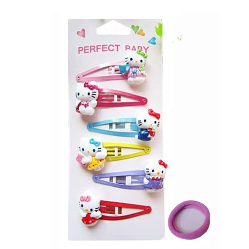 Kitty Cat Hair Accessories for Girls | Kitty Clips Headband Hairpins -- Kitty Cat Gifts