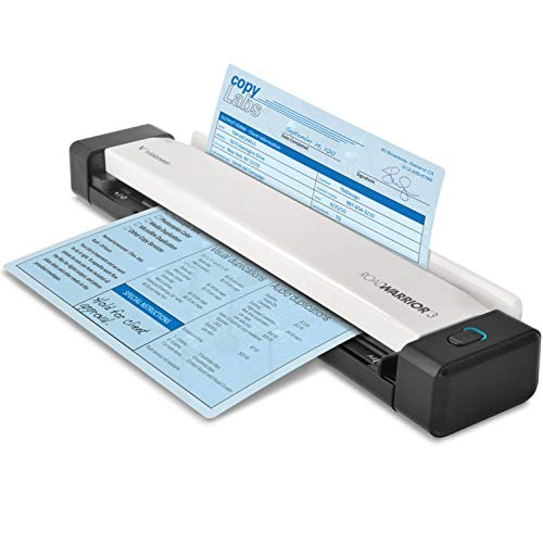 Visioneer RoadWarrior 3 Simplex Mobile Document Scanner for PC and Mac, USB Powered Travel Scanner