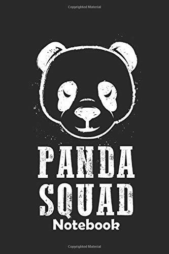 Panda Squad Notebook: Ein Notizbuch für alle Gelegenheiten. Besonders geeignet als Geschenk für Panda Liebhaber. 110 Seiten Blanko.