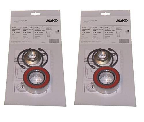 FKAnhängerteile 2 x ALKO Radlager 1224803 Lager 72/39x37 mm + Zubehör - Kompaktlager Ecolager