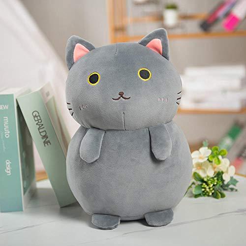 JMKHY Cat Plush Toys 35cm Cats Stuffed Dolls Animal Soft Plush Pillows Stuff Doll for Kids Birthday Gifts Child Home Decor Toy-35cm_Grey