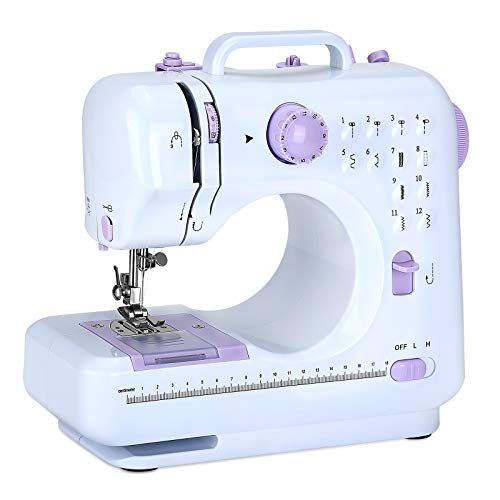 Multifunctional Small Portable Sewing Machine, Household Sewing Machine, Sewing Machine for Beginners, 12 Built-in Stitches, 2 Speed with Foot Pedal, Suitable For Beginners To Sew Easily